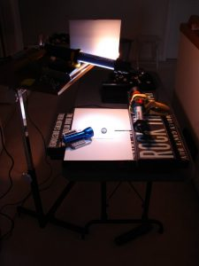 Set up to light some macro-photography for a client - BobSongs.com